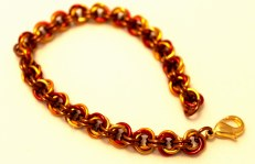 C107 Mobius weave chainmaille bracelet