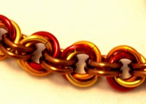 C107a Mobius Weave chainmaille bracelet