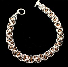 C111 captive invertedbronze chainmaille bracelet