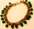 C112 Beaded Dubious chainmaille Bronze & green