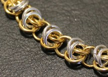 C124a Gold & silver rings Barrel weave