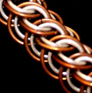 C52a Celtic weave bracelet