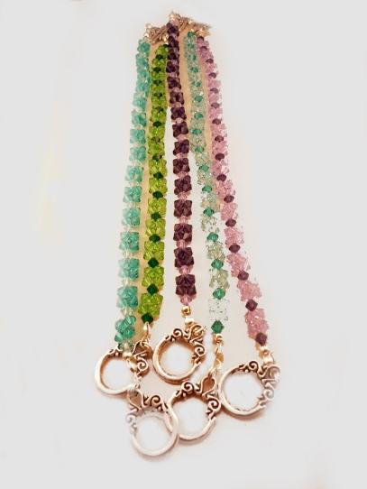 page 15 120 - 124 Swarovski crystal bracelets x 5 colours