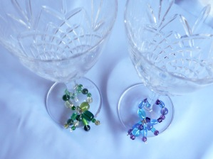 Glass charms