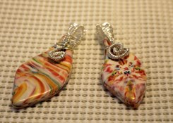 Wire wrapped pendants on polymer clay
