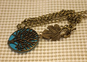 tree of life pendant and leaf small