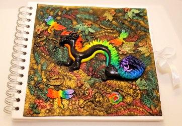 Rainbow Dragon Journal in Polymer Clay